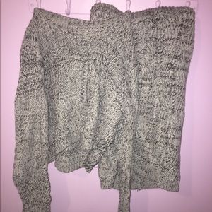 Set! Cropped Sweater with Sweater Mini Skirt